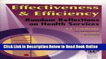 Download Effectiveness   Efficiency: Random Reflections on Health Services  Ebook Online