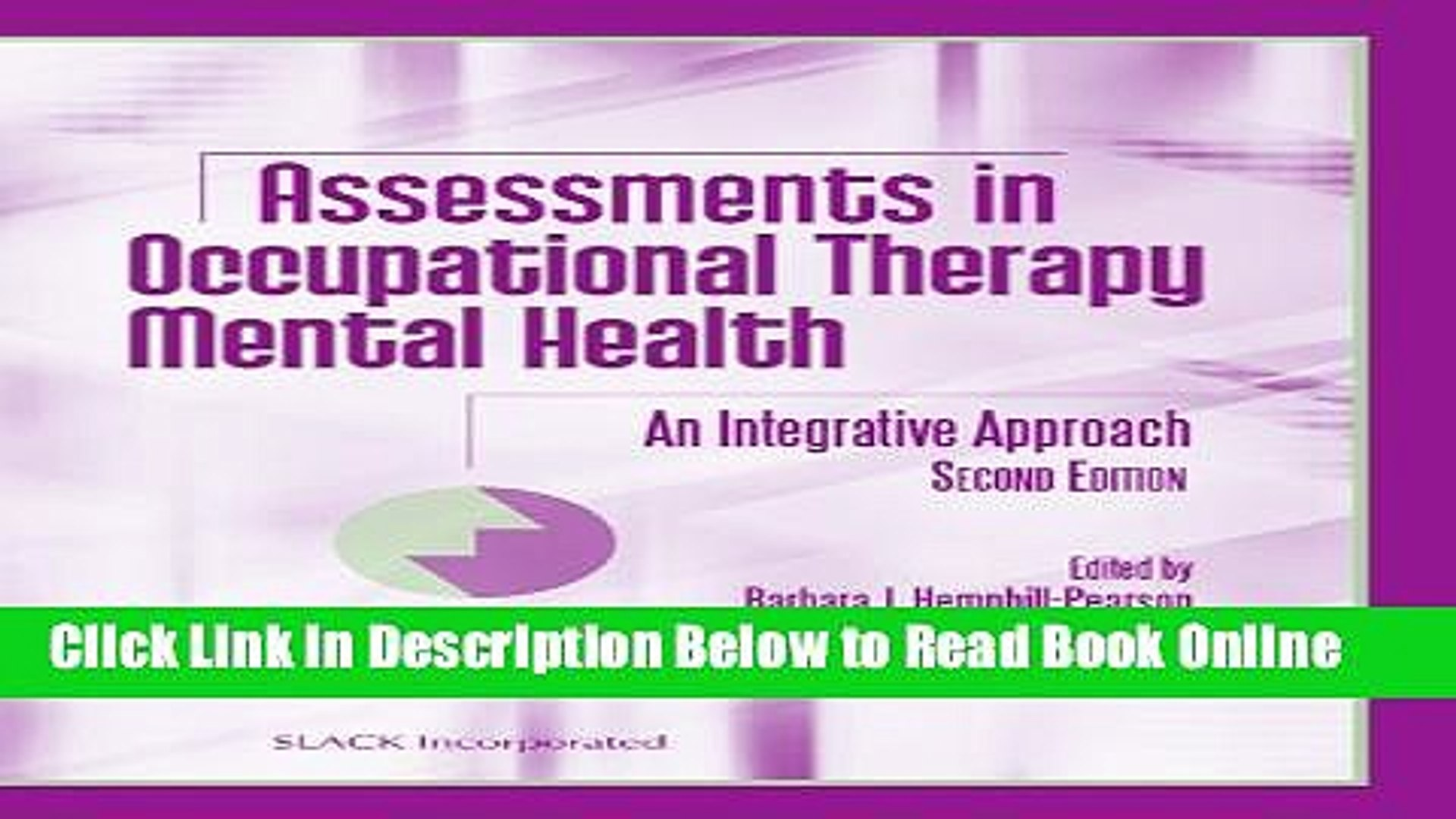 Download Assessments In Occupational Therapy Mental Health An Integrative Approach Pdf Online Video Dailymotion