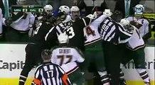 CRAZY TEAM FIGHT Minnesota Wild vs Dallas Stars March 29, 2013 NHL