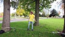 Slackline-Tutorial Standing and Walking