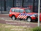 20/12/13 Officier van Dienst Haaglanden 15-9591 met spoed naar een Ongeval en een Meting