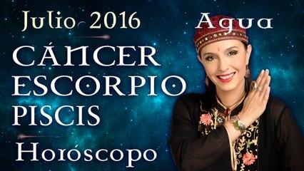 Horóscopo CANCER, ESCORPIO Y PISCIS Julio 2016 Signos de Agua por Jimena La Torre