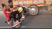 Bike Wheeling With sexy girlfriend - ALI jutt With Play Game On Bike Wheeling