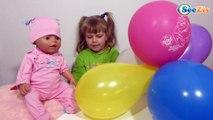 Кукла Беби Борн. Девочка Ника играет в лотерею со своей игрушкой. Видео для детей. Baby Born Doll