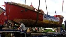 Migennes : un bateau britannique rentre chez lui