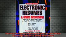 READ FREE FULL EBOOK DOWNLOAD  Electronic Resumes  Online Marketing Second Edition Electronic Resumes  Online Full Free