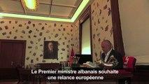 Le Premier ministre albanais veut une relance européenne