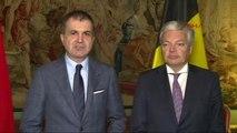 AB Bakanı Ömer Çelik ile Belçika Dışişleri Bakanı Reynders Ortak Basın Toplantısı Düzenledi.