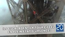 Des Russes escaladent la Tour Eiffel en plein état d'urgence