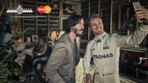 Behind The Scenes: Keanu Reeves, Rosberg and Lord March at FOS