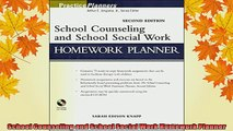 READ book  School Counseling and School Social Work Homework Planner Full Free