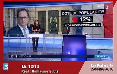 Sondage : Hollande a-t-il touché le fond ? Le zapping du 30 juin