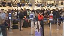 Affluence à l'aéroport de Bruxelles pour le premier jour des vacances