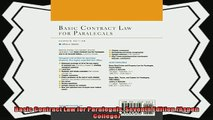 behold  Basic Contract Law for Paralegals Seventh Edition Aspen College