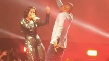 Demi Lovato and T.I. Performs New Single 'Body Say' at 'Future Now' Tour
