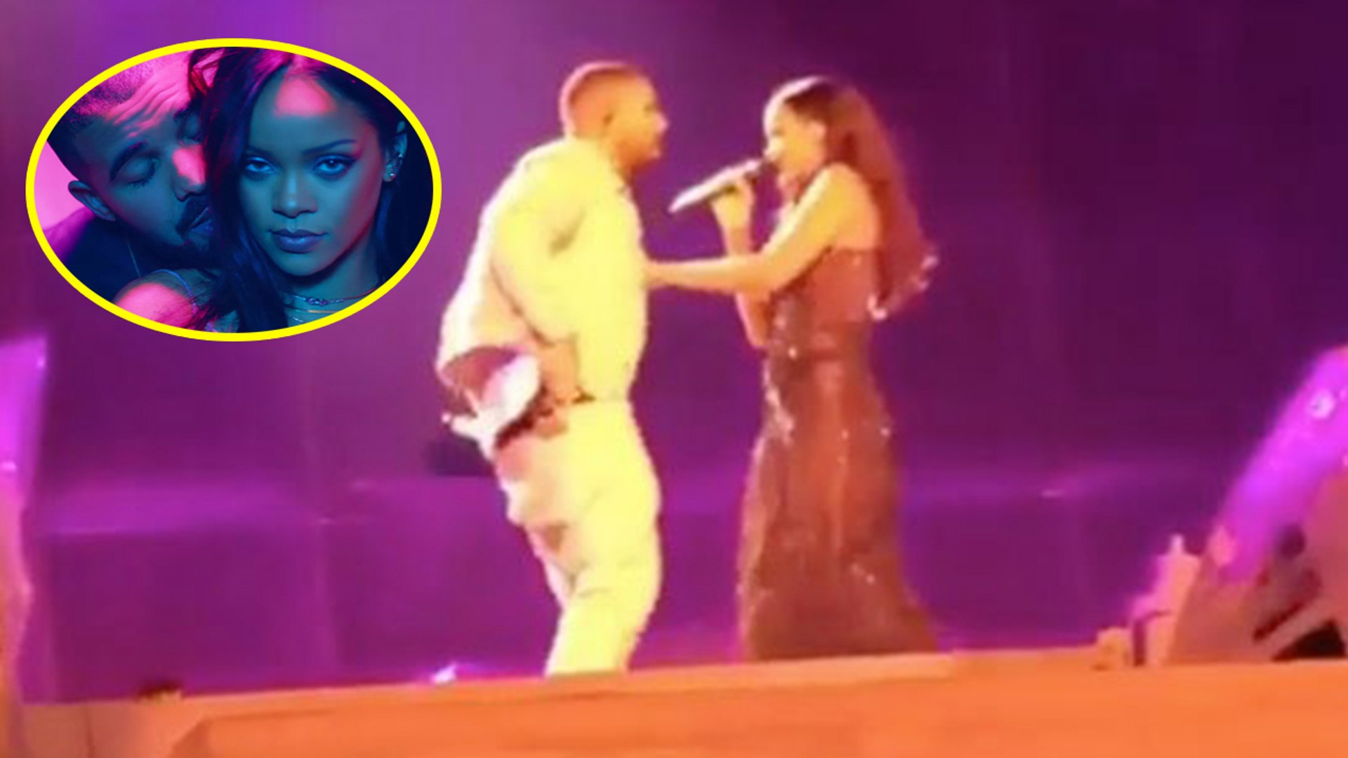 Drake Kisses Rihanna On Stage at London Concert