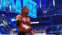 WWE Wrestlemania 27-Triple H Hits A Tombstone Piledriver To The Undertaker (HD)
