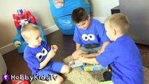 World's Biggest COOKIE MONSTER Surprise Egg! Sesame Street Toys HobbyKidsTV_12