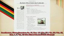 FREE DOWNLOAD  Beethoven Piano Sonatas Op 14 Nos 12  Op 22  Op 26  Op 27 Nos 1 2  Op 28 An  DOWNLOAD ONLINE