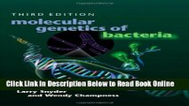 Read Molecular Genetics of Bacteria, Third Edition (Snyder, Molecular Genetics of Bacteria)  PDF