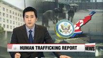 N. Korea among world's worst countries for human trafficking: U.S. State Dept.