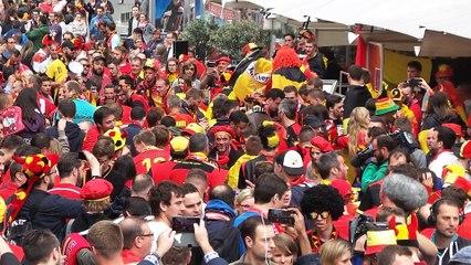 Euro à Lille : les supporters belges place Rihour