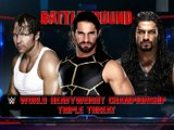 24 juillet 2016 - Dean Ambrose vs Seth Rollins vs Roman Reigns - Battleground