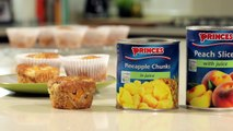 Princes Peach and Pineapple Muffins Recipe