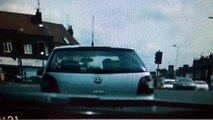 Pedestrian near miss with vehicle at pedestrian crossing