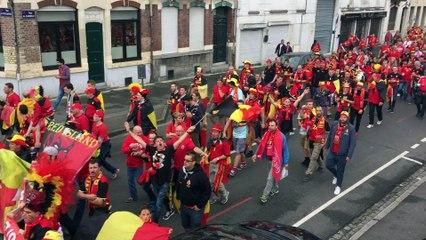 Euro 2016 : la fan walk des supporters belges