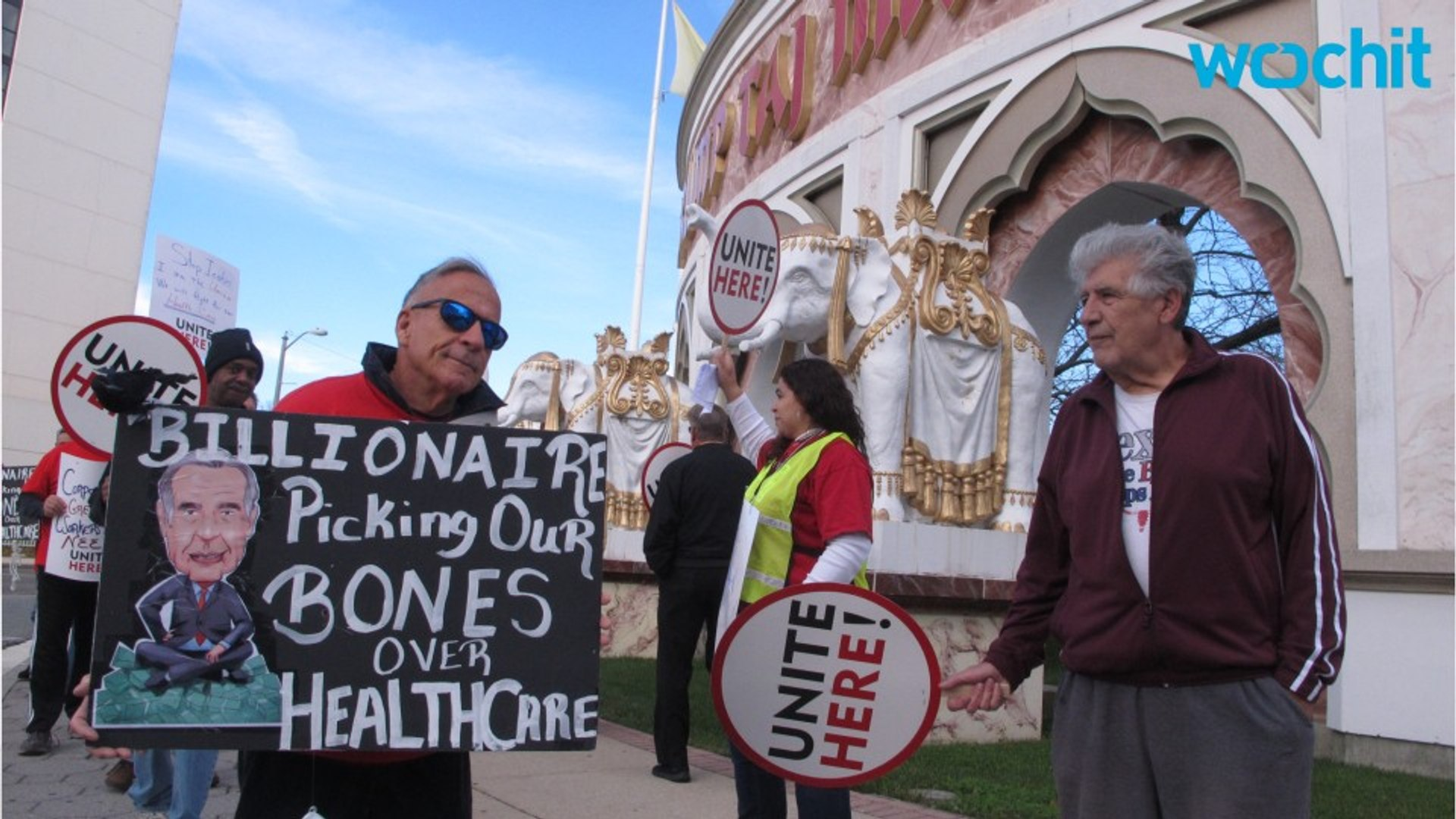 Trump Taj Mahal Workers on Strike