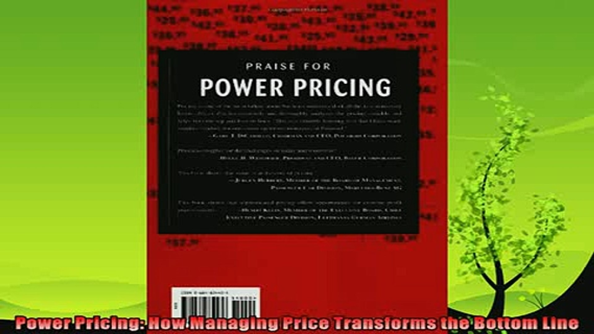 different   Power Pricing How Managing Price Transforms the Bottom Line