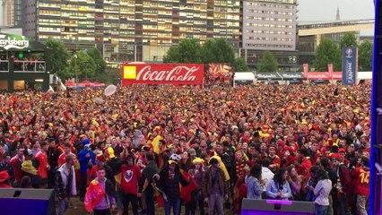 Euro 2016 : ambiance belge à la Fan Zone de Lille