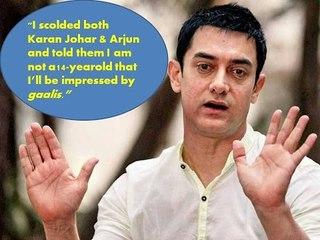 Aamir Khan scolds Karan and Arjun