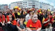 Ambiance sur la Place de Mons pour le match Belgique-Pays de Galles