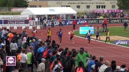 CF Cadets-Juniors : Finale 100 m Juniors Garçons