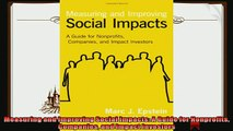 there is  Measuring and Improving Social Impacts A Guide for Nonprofits Companies and Impact