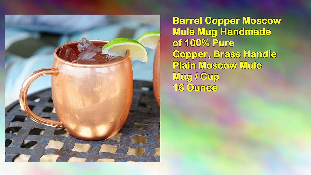 Barrel Copper Moscow Mule Mug Handmade of 100