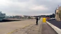 Fail in portuguese navy drone launch