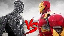 BLACK SPIDERMAN VS IRON MAN - MARK 46