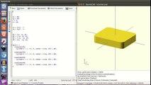 Micro-tutorial OpenScad 6: Parametrizando (6/14) - video
