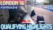 London 2016 Saturday Qualifying Highlights - Formula E