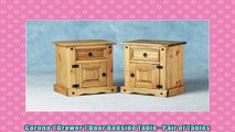 Corona 1 Drawer 1 Door Bedside Table  Pair of Tables