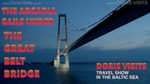 Denmark Belt Bridge, Doris Visits sails under on a Baltic Cruise