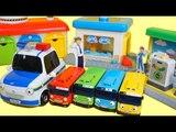 꼬마버스 타요 경찰차 패트의 타요 차고지 주유소 세차장 장난감 놀이 Tayo the little bus police car toys Тайо Игрушки