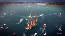 L'arrivée de l'Hermione à Saint-Malo filmée en drone-EASY RIDE