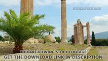 Sightseeing tour around ancient building ruins, summer vacation, tourist trip. Stock Footage