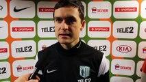 TV FLORA: Norbert Hurt Flora - Vilniuse Žalgiris 1:2 kaotusmängu järel.