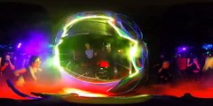 [watch in VR] 300 Spartans - psytrance forest rave - London 25 June 2016 (nighttime)