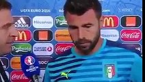 Les larmes de Barzagli en interview après Allemagne-Italie